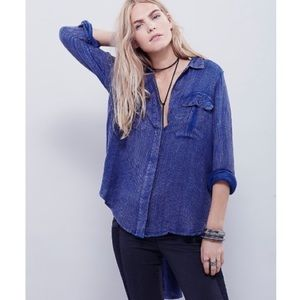 Free People One Of The Guys Button Down Shirt